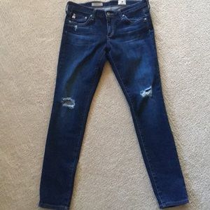 AG Distressed Jeans